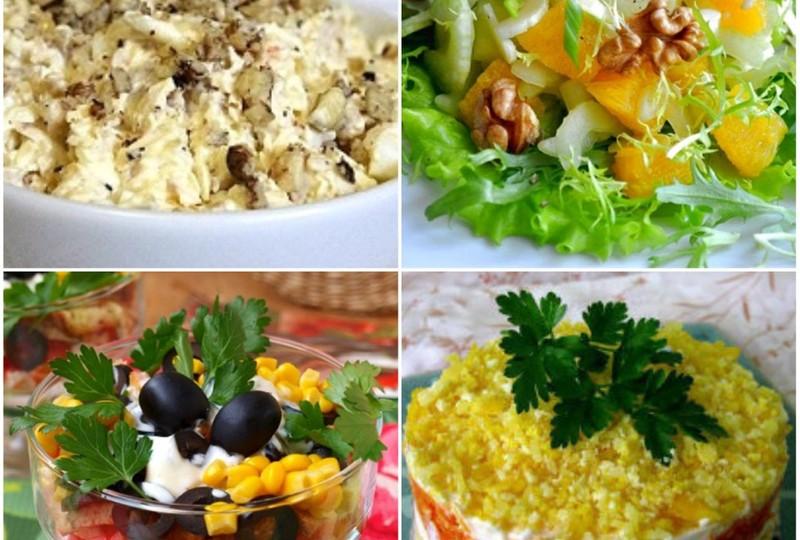 Рецепты вкусных и быстрых салатов с фото