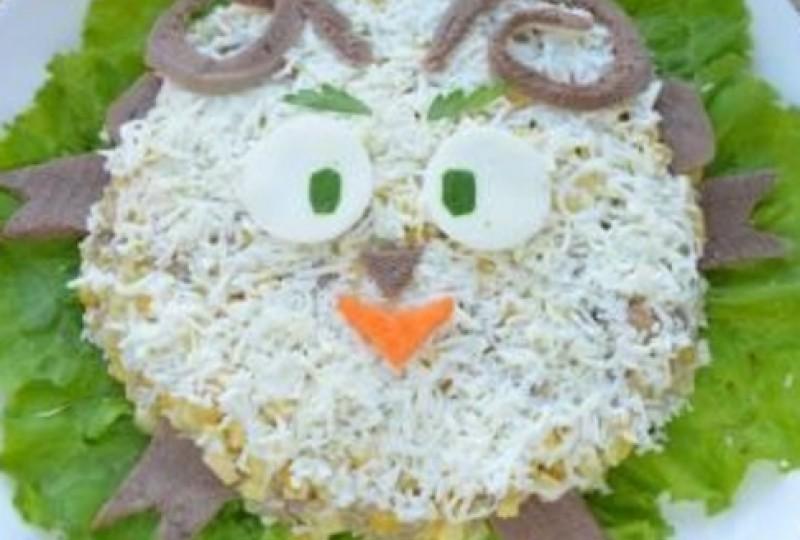 рецепт слоеный салат на новый год козы