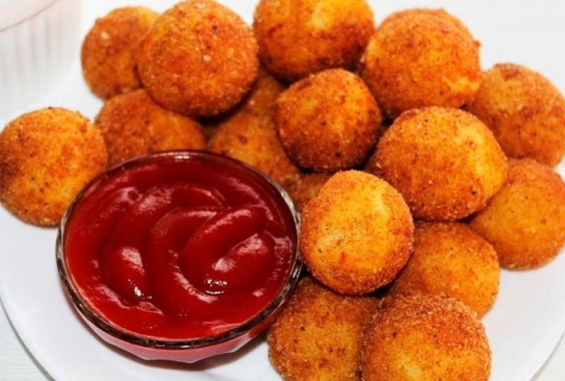 Хрустящие картофельные шарики из пюре