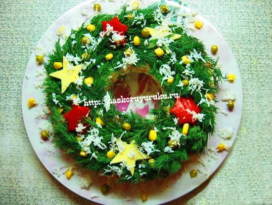 рецепт салата с крабовыми палочками и грибами и кукурузой #9