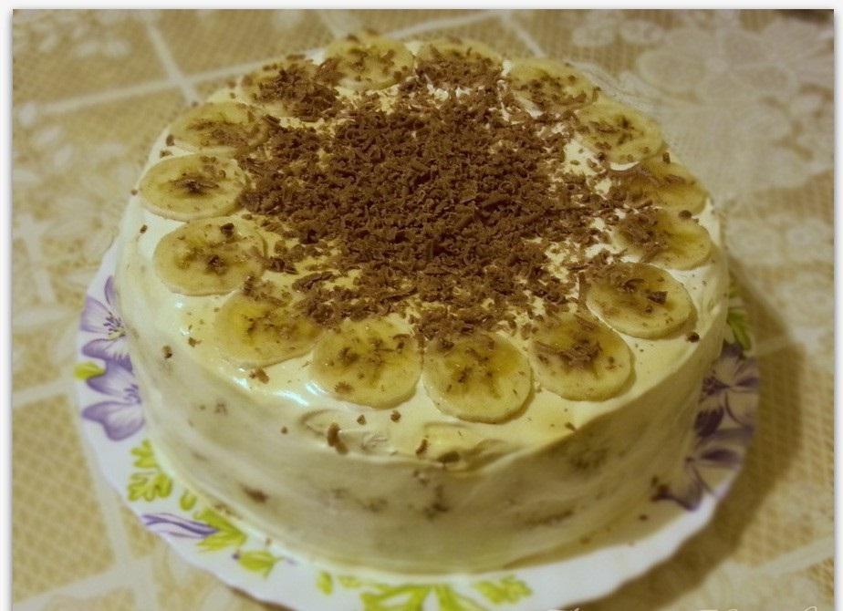 Как приготовить торт с бананами