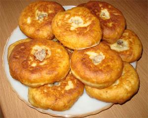 Ленивые беляши на кефире рецепт с фото пошаговый на сковороде