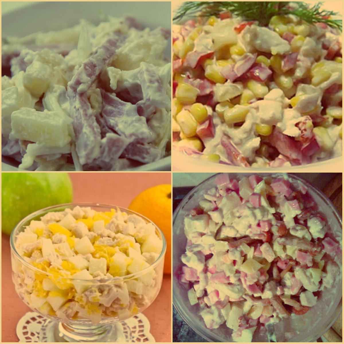простые и вкусные рецепты салатов с ананасом