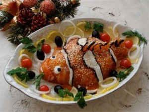 Какие салаты и блюда приготовить на Новый год 2016
