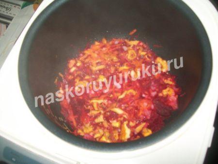 Борщ без зажарки рецепт с фото