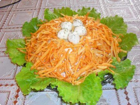 салат гнездо глухаря пошаговый рецепт с фото классический
