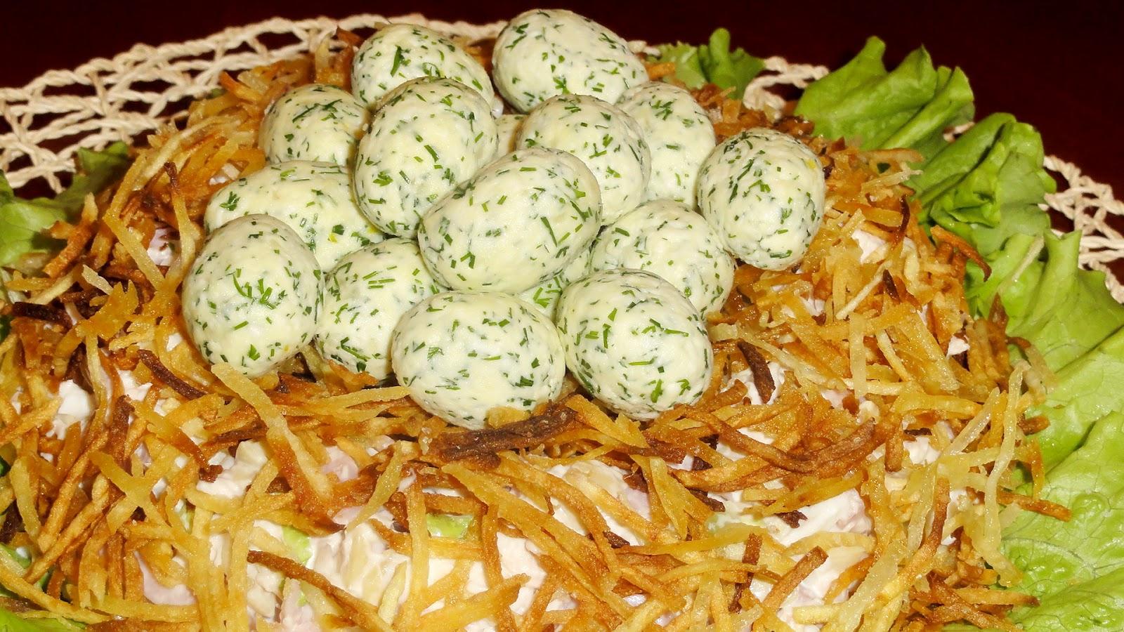 салат гнездо рецепт классический рецепт пошаговый