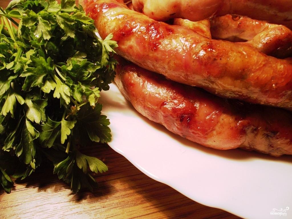 рецепты домашней колбасы в кишке из свинины с крахмалом