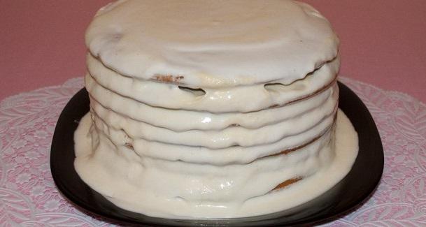 блины со сметанным кремом рецепт