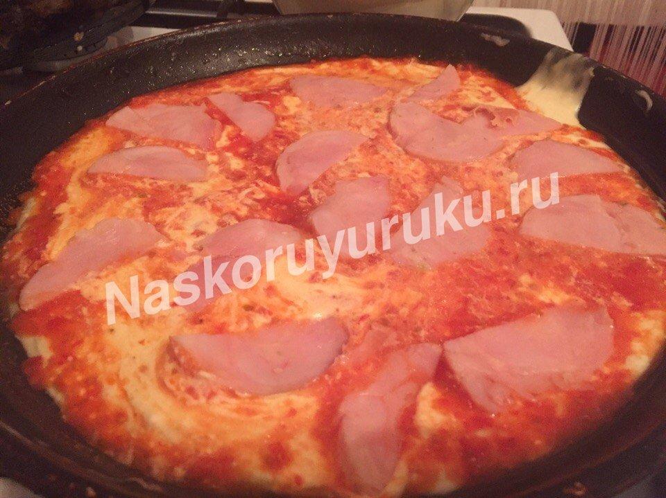 Рецепт пиццы на молоке и сметане
