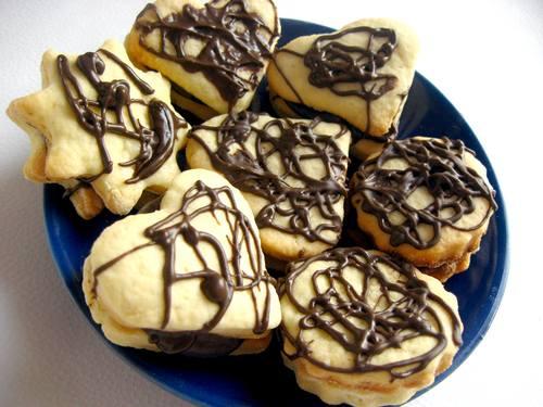 Песочное печенье в шоколаде фото рецепт