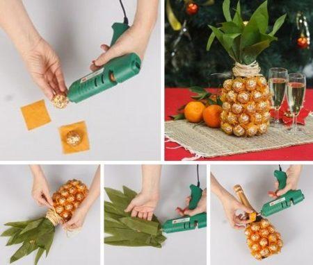 chto-ponadobitsya-dlya-ukrasheniya-shampanskogo-v-vide-ananasa