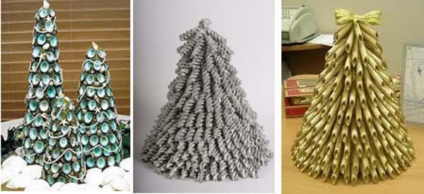 Из чего делают елки своими руками