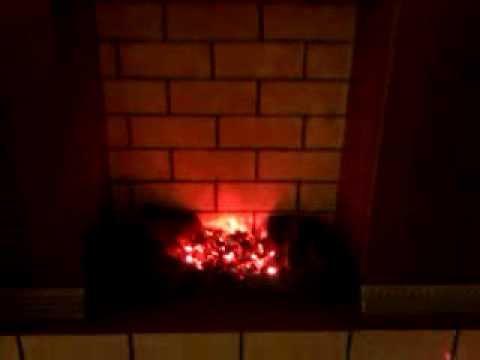Как сделать искусственный огонь в камине своими руками видео