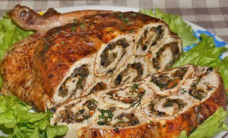 Фаршированный цыпленок рецепт с фото