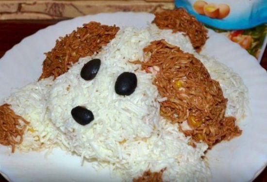 салат собачка рецепт с фото